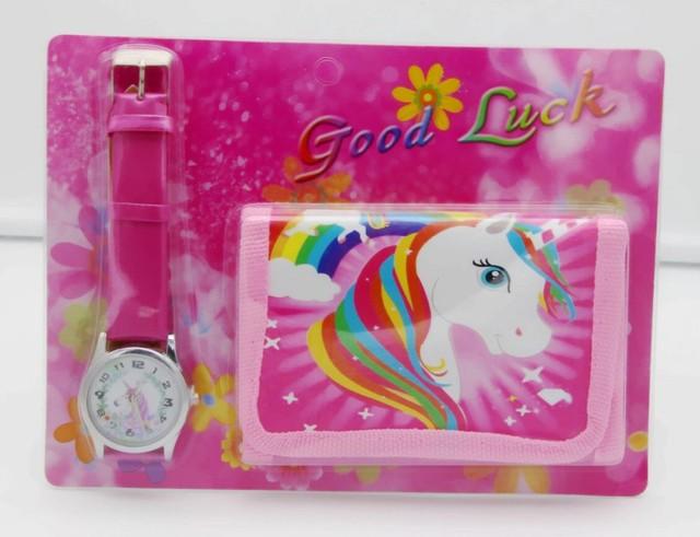 Unicorn Watch Digital watch Wallet for kids students watches Cute Unicorn Girl's