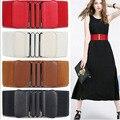 A estrenar cinturones de la cintura de las mujeres Dama de La Moda solid Estiramiento Elástico Cinturón Ancho Vestido de Adorno de las mujeres de La Pretina