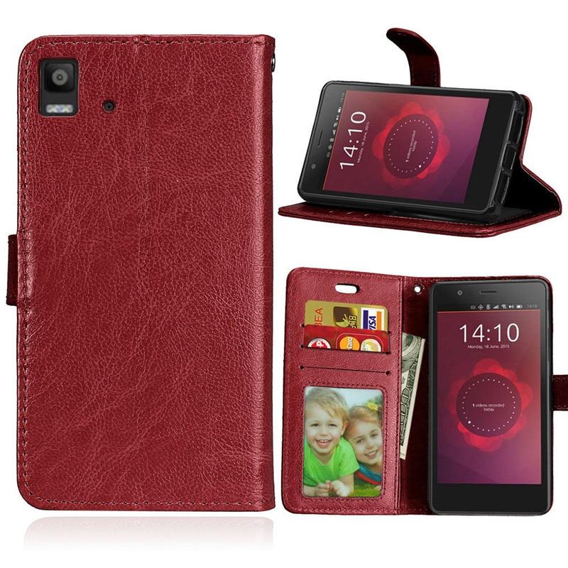 Pentru BQ Aquaris E4.5 Carcasă Flip Cover Retro Crazy Horse PU Piele - Accesorii și piese pentru telefoane mobile