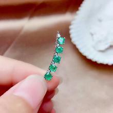 купить SHILOVEM 925 sterling silver real Natural Emerald pendants classic fine Jewelry women gift new plant mz3.53.5992agml дешево
