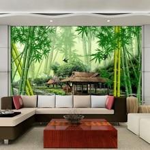 Beibehang Costumbre Wallpapers Moderno Paisaje De Bambú Natural Foto Wallpaper fondos de pantalla para sala wallpaper para paredes 3 d