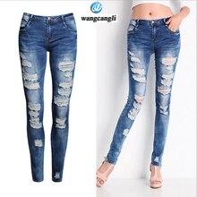 New corners long trousers skinny jeans women 2017 Slim stretch female pencil women summer pants boyfriend jeans plus size femme