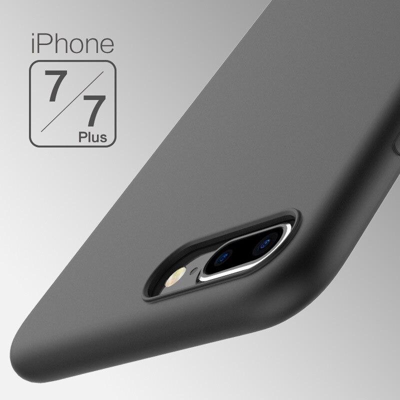 Case para iphone 7 4.7 pulgadas 7 plus 5.5 pulgadas pure color tpu i7 Cubierta d