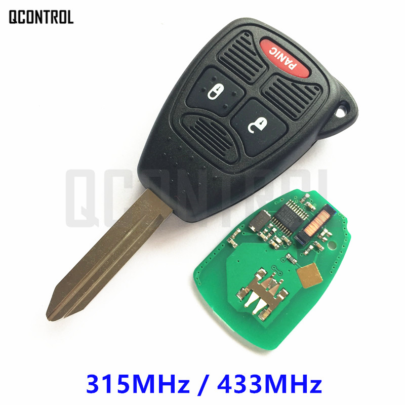QCONTROL Car Remote Key for DODGE Vehicle Auto Control Alarm Caravan Durango Dakota Caliber Charger Avenger RAM Nitro Magnum
