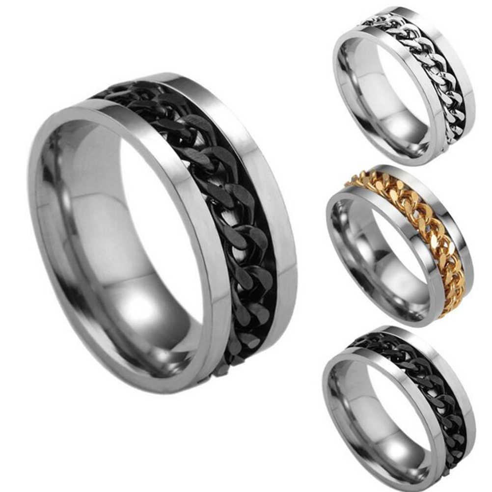 Антистрессовая игрушка EDC палец Спиннер кольцо для СДВГ аутизм нержавеющая сталь цепь кольцо Непоседа