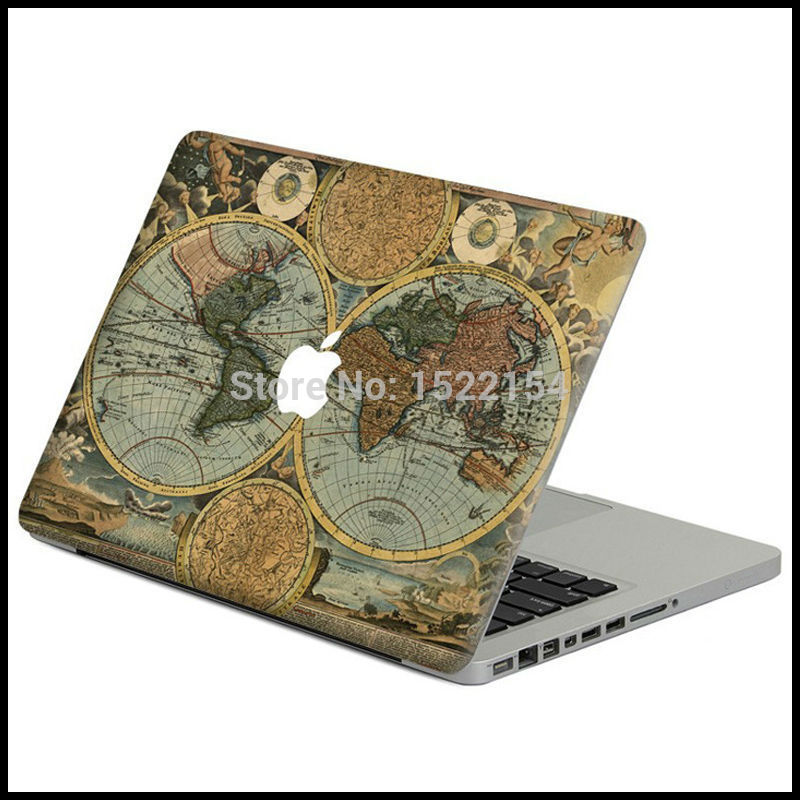 Online get cheap stickers macbook 13 world aliexpress world map laptop front cover full skin sticker for macbook pro air retina 11 13 15 vinyl decal mac case protective body decal gumiabroncs Image collections