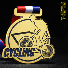 купить Quality Outdoor Cycling Competition Medal Mountain Bike Cross Country Rac Champions Medal Holder Free Engraving Medals Badges недорого