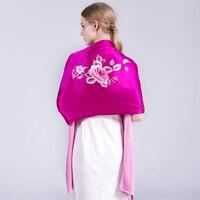 Роскошный китайский тонкой suzhou Вышивка шарф цветок бабочка Для женщин палантины, 200x55 см длинный шелковый платок, 16 момме шелковый шарф Обер