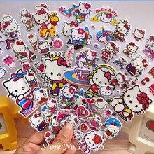 2016 новый 3 Шт./лот Пузырь Наклейки 3D Мультфильм Hello Kitty Животных Кошка Классические Игрушки Записки Для Детей Дети Подарок Наклейку