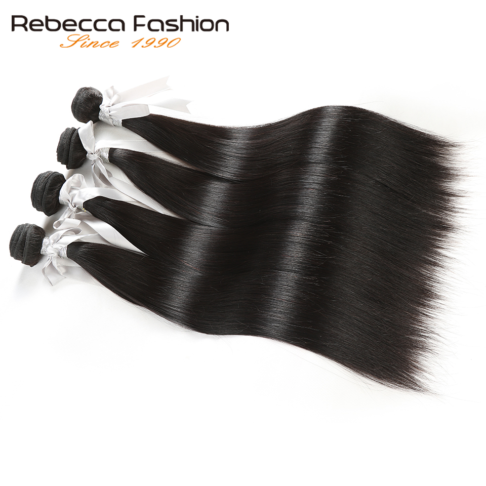 Rebecca Malaysian Straight Hair 4 Bundles Deal 10-26 tums icke remy - Barbershop - Foto 2