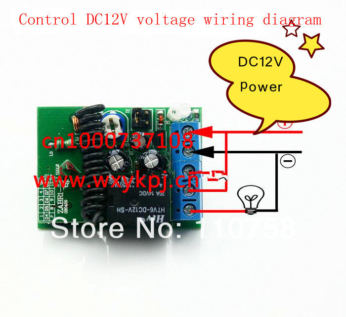 Wholesale prices DC12v 1 channel, Wireless remote control switch delay Time delay is adjustable Free shipping