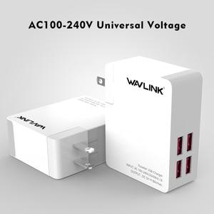 Image 3 - Wavlink Universal 2/4 Port Traveler adapter ładowarki usb 40w DC 5V 8A z przenośną wymienną wtyczką EU/US/AU/UK do telefonu komórkowego