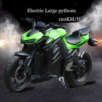 Python Electric Power Motorcycle A Sports Car Street Oil Change Electric Race 72v Battery Adult Heavy Machine Large Refit