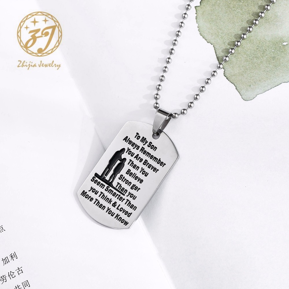 Christmas Trees Jewelry Military Pendant Brand Necklace Metal Dog Tag