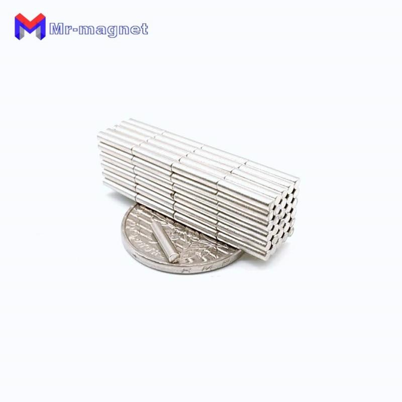 Купить с кэшбэком 2000pcs 2 x 10 mm magnet Neodymium N35 Strong D2*10 2x10 Tiny Disc NdFeB Rare Earth Fridge Sticking D2x10 2*10mm Teaching Magnet