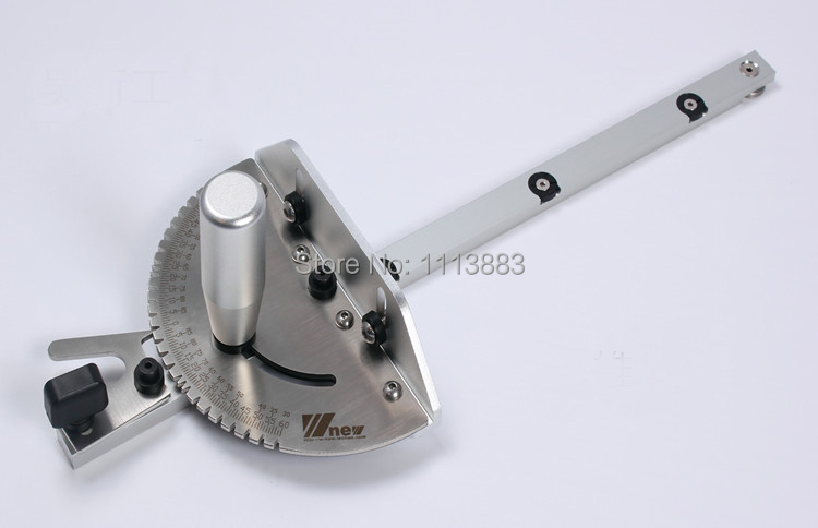 Купить с кэшбэком Miter Gauge for Table Saw/Router Table, Brass/Aluminum Handle, Woodworking Jig