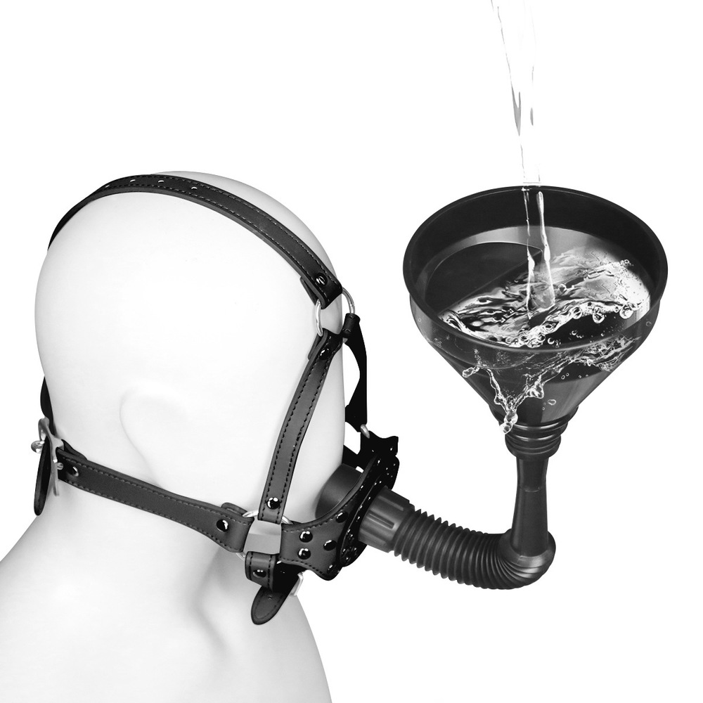 Funnel Mouth Gag Fetish BDSM Bondage Set Erotic Slave Restraints SM Adult Game Couples Sex Game Sex Toys For Women Men