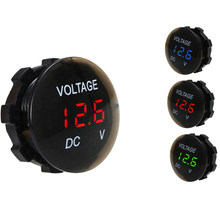 DC 12V-24V Digital Panel Voltmeter Voltage Meter Tester Led Display For Car Auto Motorcycle Boat ATV Truck Refit Accessories(China)