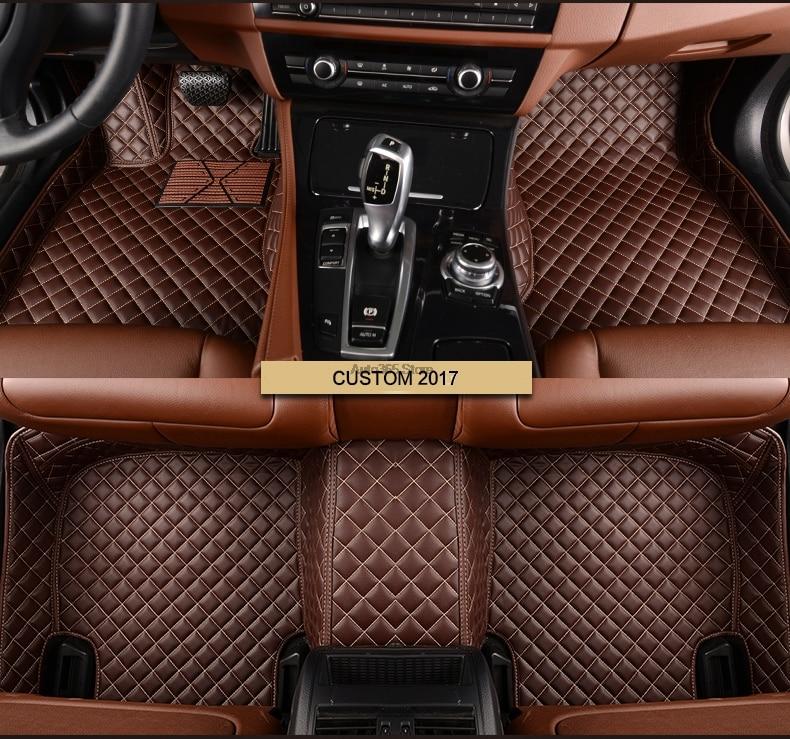 Car Styling Pu Leather Auto Floor Foot Mats Pads Carpet For Ssang Yong Actyon Rodius Kyron Rexton-W Korando Floor Mat
