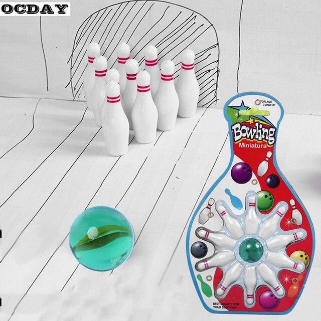Мини настольный Боулинг игра игрушечный Комплект Дети Крытый весело подвеска в виде боулинга игрушка развивающие Родитель-ребенок взаимодействуют спортивные игрушки Новый
