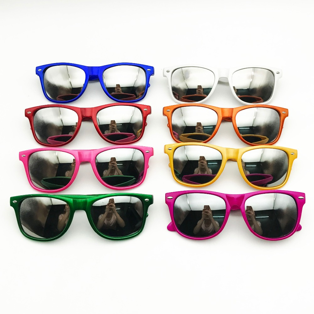 60 Pairs Pearl Bright Color Classic Sunglasses Customized Wedding Souvenir Custom Party Sunglasses with Mirror Lens Party Favors-in Party Favors from Home & Garden    2