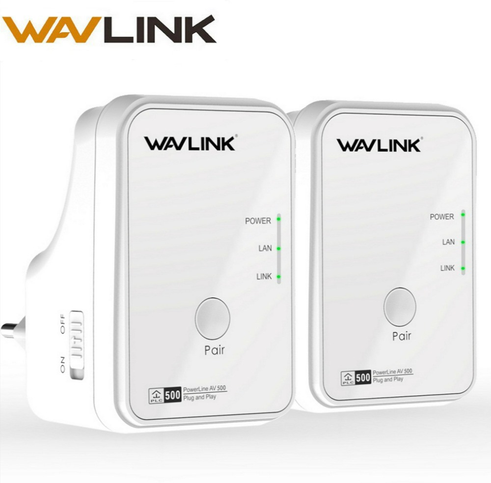 все цены на 1pair Wavlink AV500 Powerline Network Adapter RJ45 500Mbs Powerline Kit Ethernet adapter IPTV HomePlug AV Plug and Play EU/US онлайн