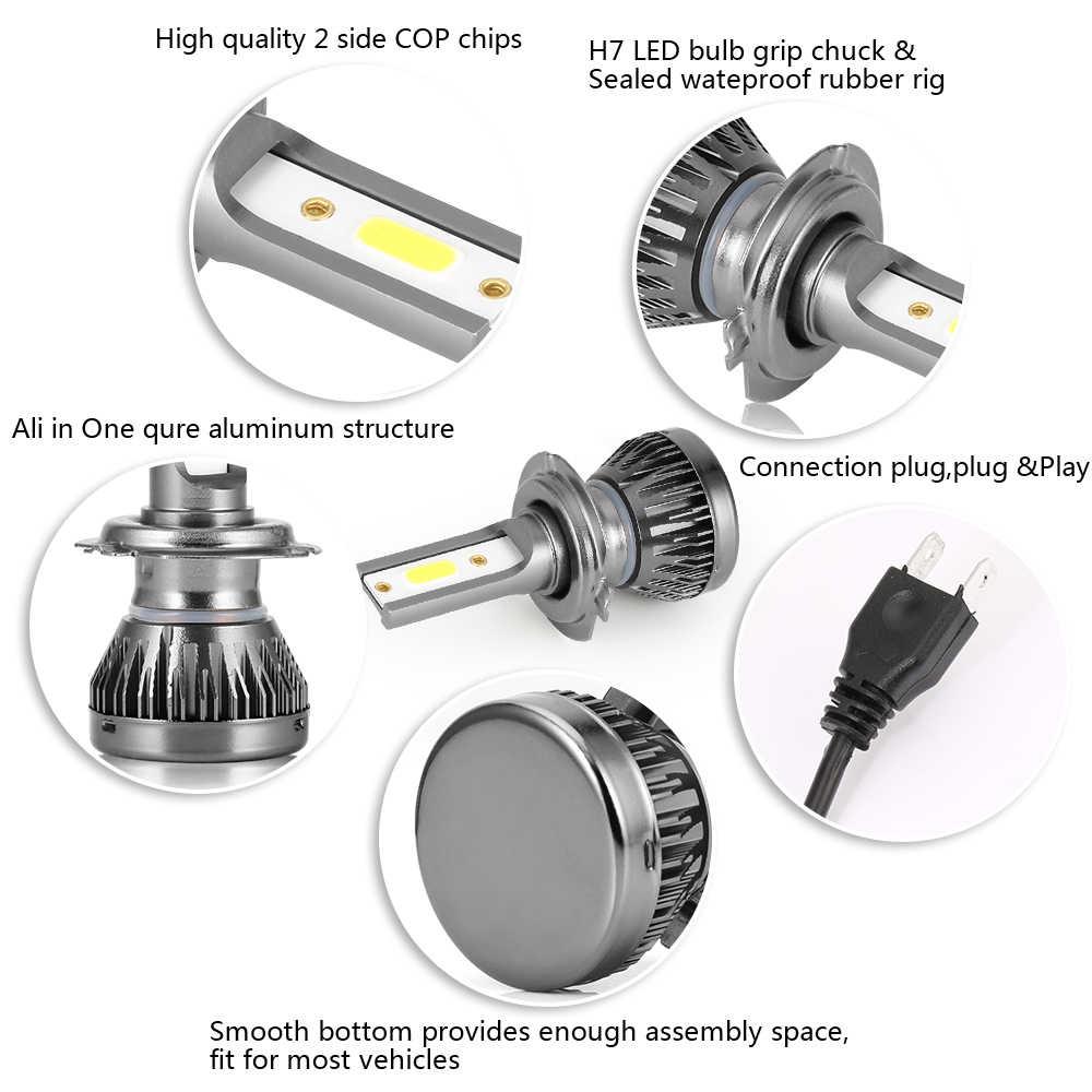 2 Pcs Mini Ukuran Lampu Mobil Lampu Lampu H7 LED H8 H9 H11 Lampu Depan 9005 HB3 9006 HB4 Lampu LED Otomatis mobil Mobil Styling