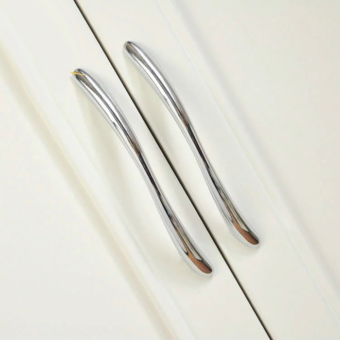 Modern Bathroom Kitchen Drawer Pull Handles Silver Chrome Dresser Pulls Cabinet S Door 128 Mm In From Home