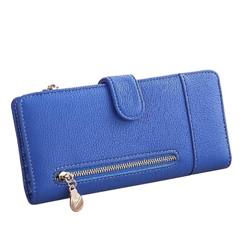 Мода бумажник кошелек мягкий Искусственная кожа Кошелек Длинные женщин сцепления бумажник с Монета и телефон сумка