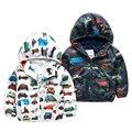 Primavera y otoño nueva moda ropa de los niños prendas de abrigo niños chaquetas con capucha niños bebés ropa todos los coches de la alta calidad