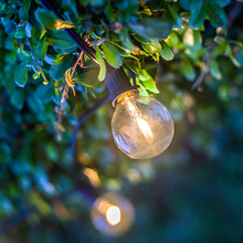 25 FT Outdoor LED String Lights G40 LED Globe Bulbs for Patio Cafe Bistro Garden Deck Yard Pergola Porch Party Wedding Lighting