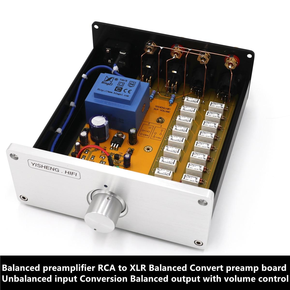 Balanced preamplifier RCA to XLR Balanced Convert preamp board Unbalanced input Conversion Balanced output with volume