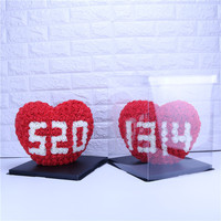 Free Shopping Creative PE Love Shape Flowers Heads Decoration Wedding Holiday Party Girl Birthday 520 Rose Heart shaped Gift Box