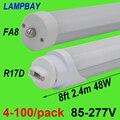 4-100 в упаковке  8 футов  2 4 м  40 Вт  48 Вт  Светодиодная трубчатая лампа с одним контактом FA8  Вращающаяся база R17D (HO)  лампа F96 T8 T12  люминесцентная л...