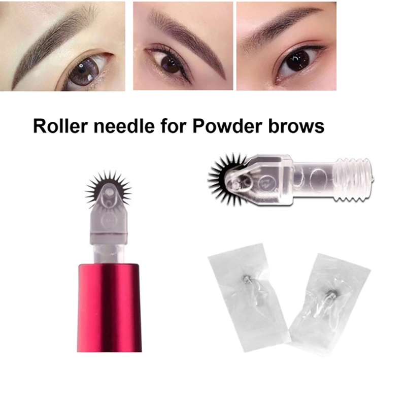 2019 Latest Design Microblading Blades Needles 7 8 Pins Disposable Manual Eyebrow Tattoo Crystalum Eyes