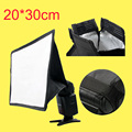 External Portable Flash Softbox 20*30cm / 7.9 * 11.8in Universal Foldable Flash Light Diffuser for All DSLR Camera Yongnuo Flash