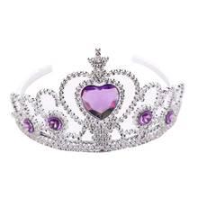 Tiara endereço de cabeça para crianças, acessórios de cabeça fofo de princesa coroa para meninas