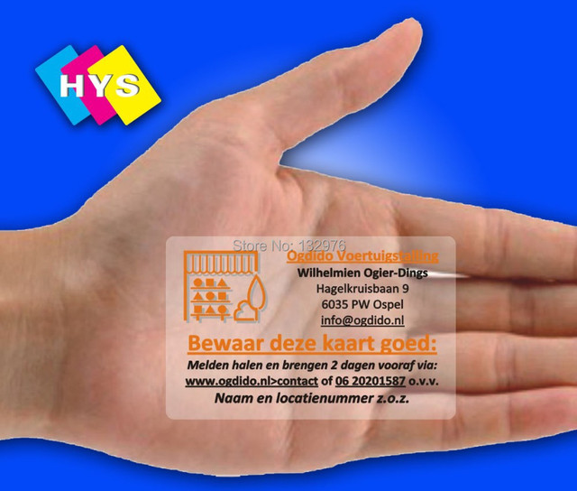 Printing plastic card&transparent plastic business cards with nice appearance