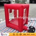 Мини красный Надувные денежных захватить box 1.2 м высокой надувные игры для рекламного продвижения 1x1xH1. 2 М BG-A0675-6 игрушка