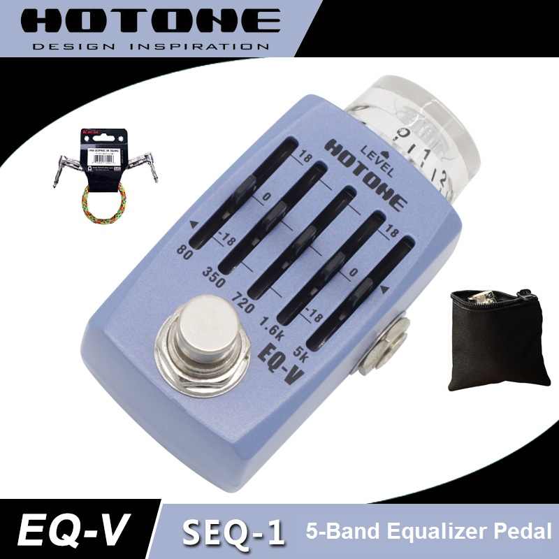 Hotone Skyline Series EQ-V Graphic Equalizer Pedal with Free Pedal Case and More
