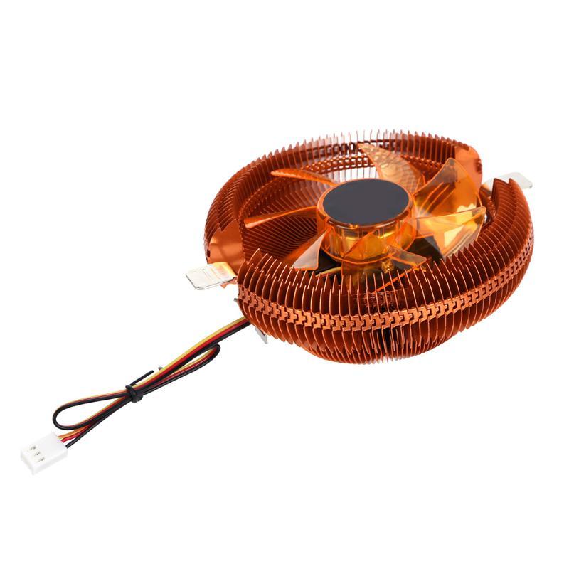 ALLOYSEED DC 12V Hydraulic Pressure Bearing CPU Heat Sink Fans Cooler cooling fan for AMD CPU Fan 775 1155