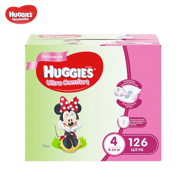 Подгузники Huggies для девочек Ultra Comfort 8-14 кг (размер 4) 126 шт