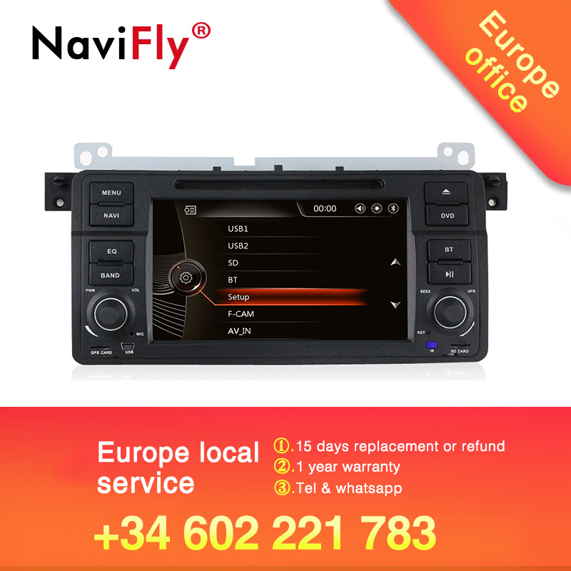 Navifly Windows ce 6.0 Car dvd player multimedia radio audio for BMW E46 M3 318i 320i 325i 328i GPS Navigation BT RDS MIC Canbus