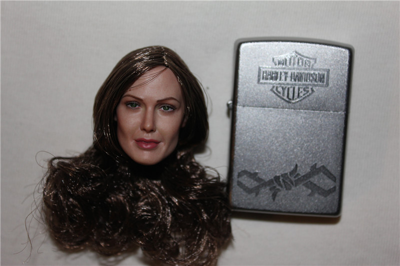 ФОТО 1:6 Scale Angelina Jolie Head Sculpt Shooter's Headplay for VERYCOOL VCF-2029 Action Figure
