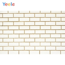 Yeele Simple White Brick Wall Retro Commodity Show Personalized Photographic Backdrops Photography Backgrounds For Photo Studio