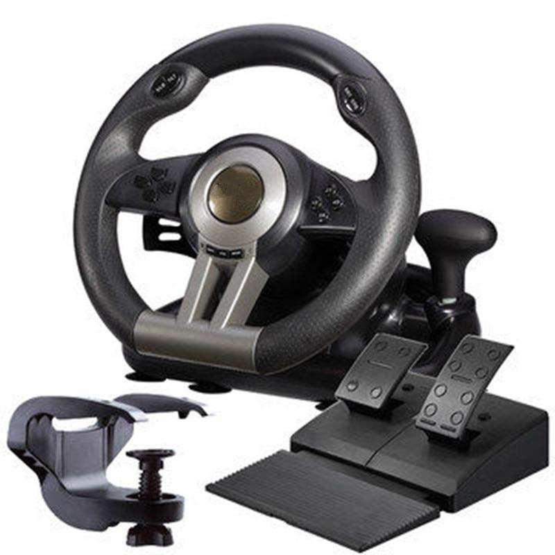 2015 nuevo juego de accesorios Laishida PXN V3 simulación automóvil carrera vibración pc usb juego de computadora volante envío gratis