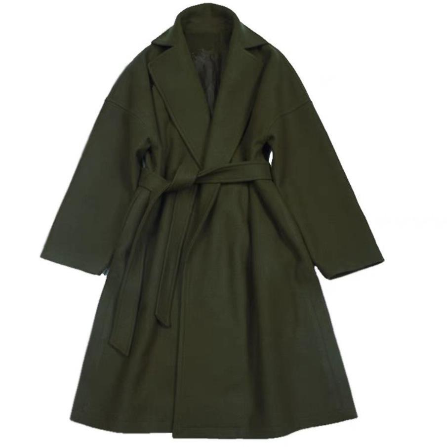 Plus la taille 2XL Automne hiver manteau de laine femmes lâche mode manteau manches chauve-souris laine mélanges manteau femmes