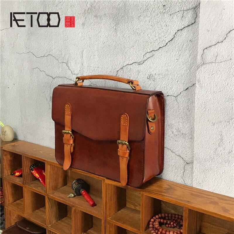 AETOO New handbags fashion retro leather handbags rose imprint ladies diagonal handbag mini shoulder bag цена 2017