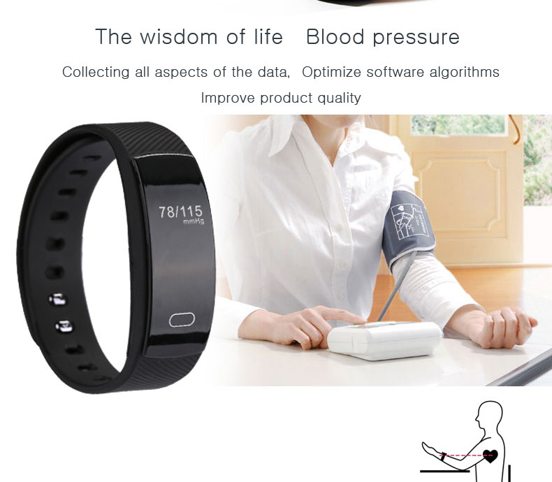 Smart watches  brand bracelet wristband bluetooth heart rate message reminder Sleep Monitoring purple a 7