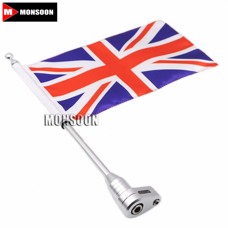 Motorcycle Flag Pole Luggage Rack Vertical American For Honda Goldwing GL1800 GL1500 GL1200 2001-2011 Chrome for honda goldwing gl1800 luggage rack vertical flag pole american